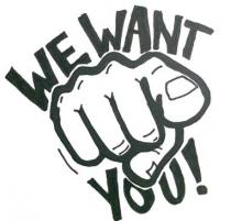 we want you.